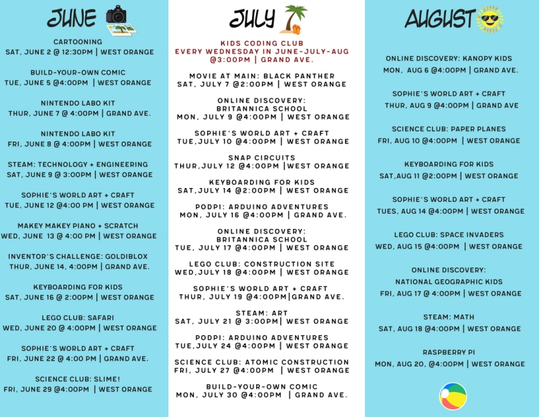 Summer Learning Challenge Summer Brochure Inside