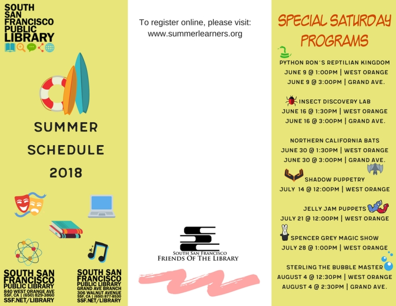 Summer Learning Challenge Summer Brochure Front